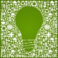 Eco green world ideas background